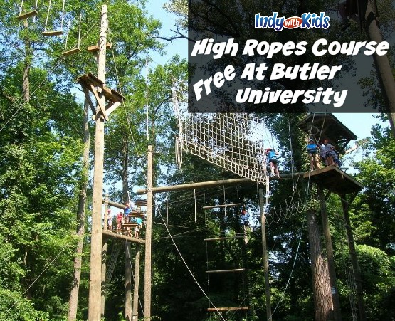 free high ropes course at butler university challenge kids