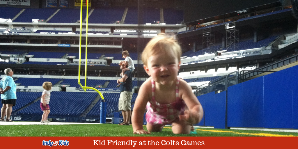 Kid Friendly at the Colts Games